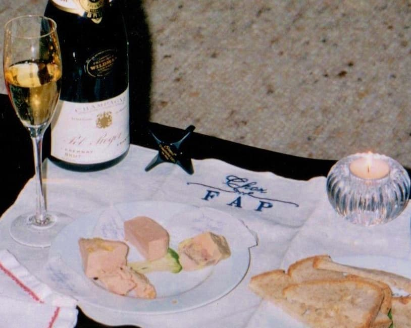 Champagne and foie gras