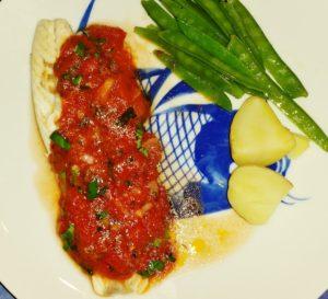 Sea Bass Sauce Vierge