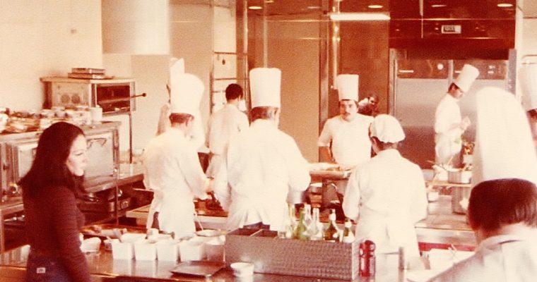 Adrienne in Troisgros kitchen May 78