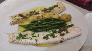 Dover Sole with brown butter sauce and capers